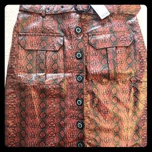 Snake print belted skit from urban outfitters